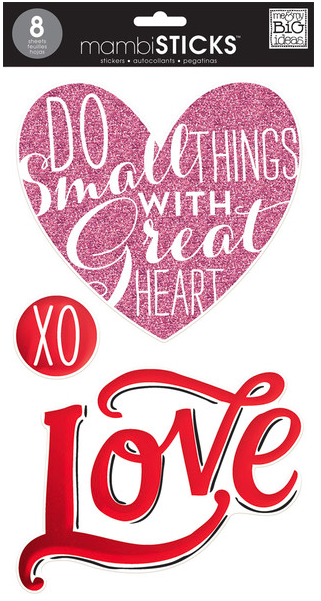 Love - jumbo mambiSTICKS clear stickers | me & my BIG ideas