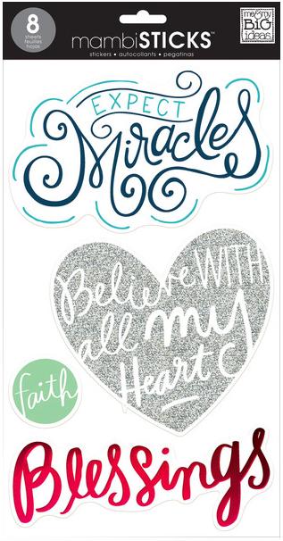 Faith - jumbo mambiSTICKS clear stickers | me & my BIG ideas