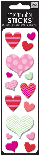 Puffy Assorted Hearts mambiSTICKS | me & my BIG ideas