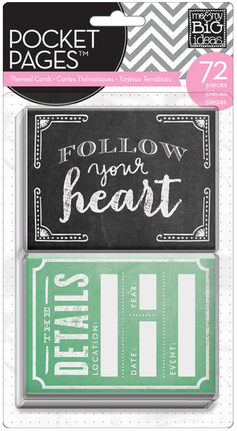 Follow You Heart POCKET PAGES™ cards | me & my BIG ideas