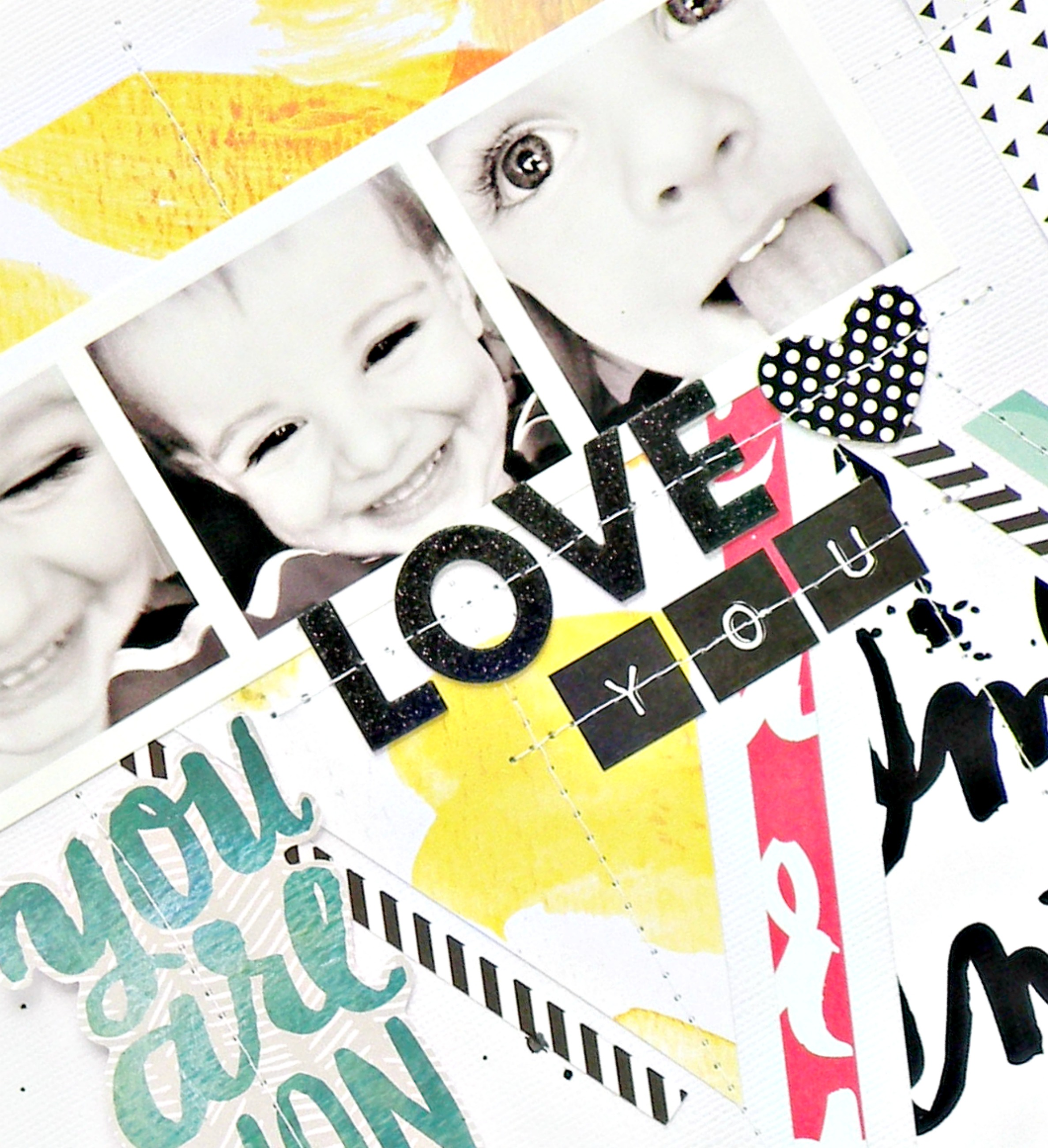 'You Are Wonderful' scrapbook page by Design Team member Steaphnie Buice | me & my BIG ideas