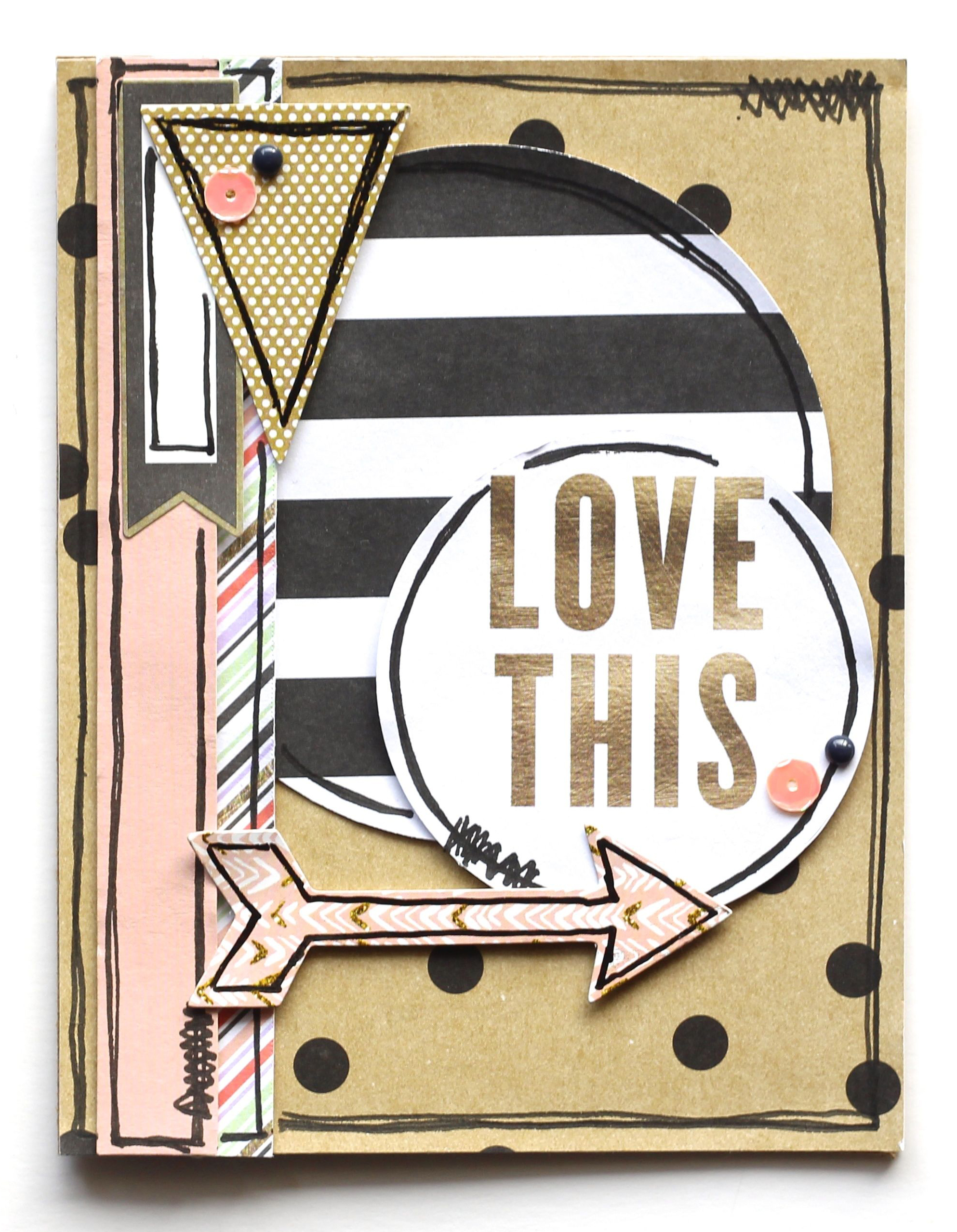 'Love This' POCKET PAGES™ card by mambi Design Team member Mary-Ann Maldonado   me & my BIG ideas