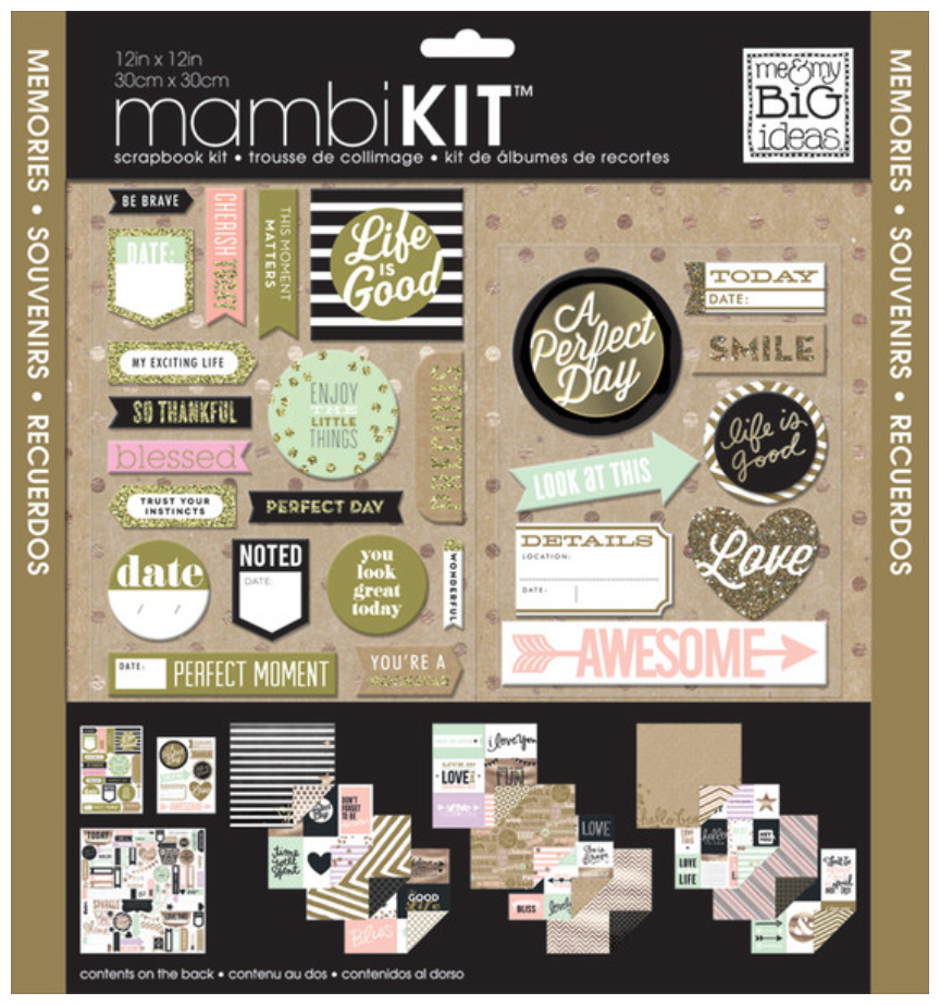 'Life is Good' 12x12 Scrapbook kit   me & my BIG ideas