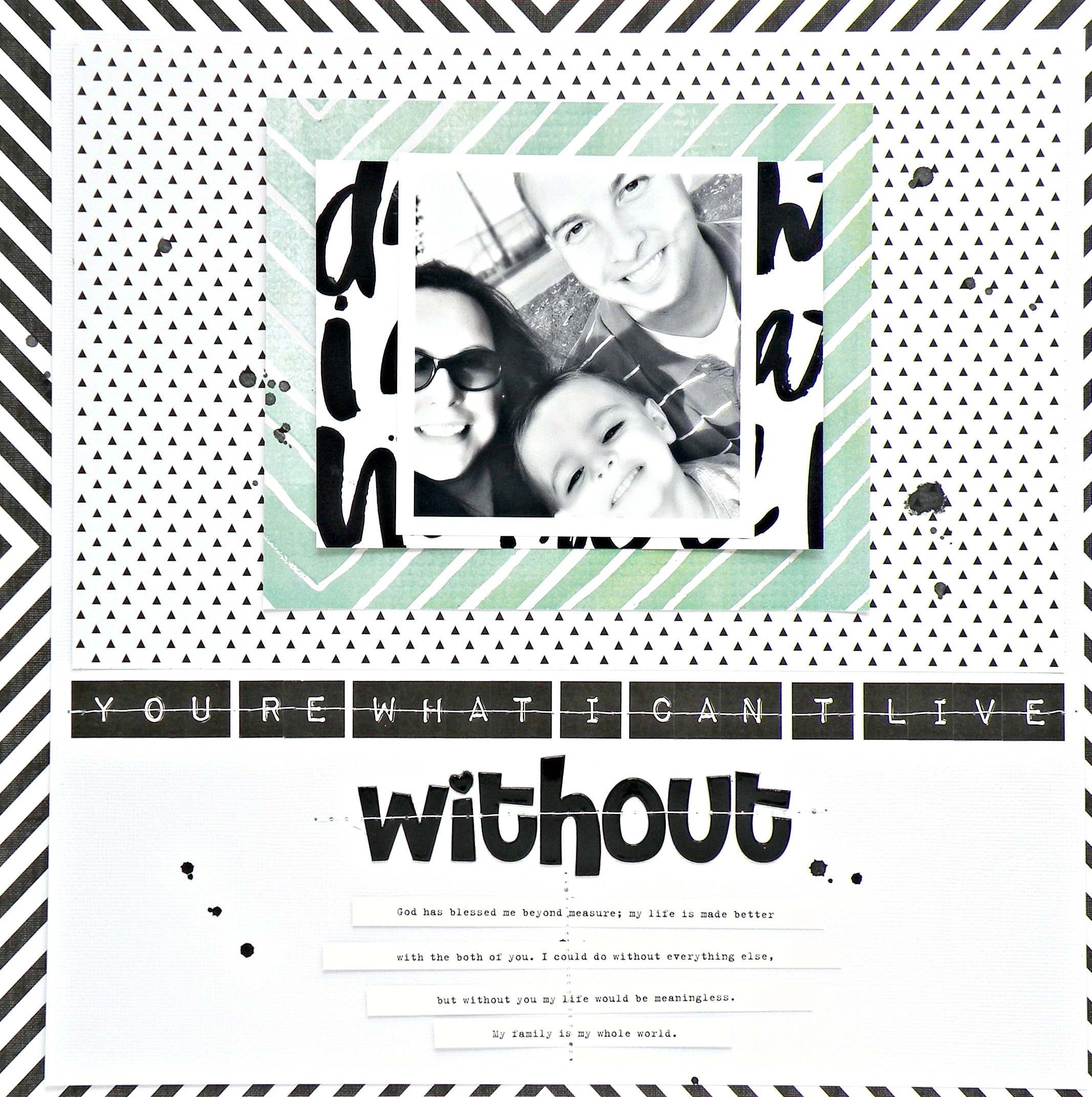 I Can't Live Without Scrapbook Page by Design Team member Stephanie Buice | me & my BIG ideas