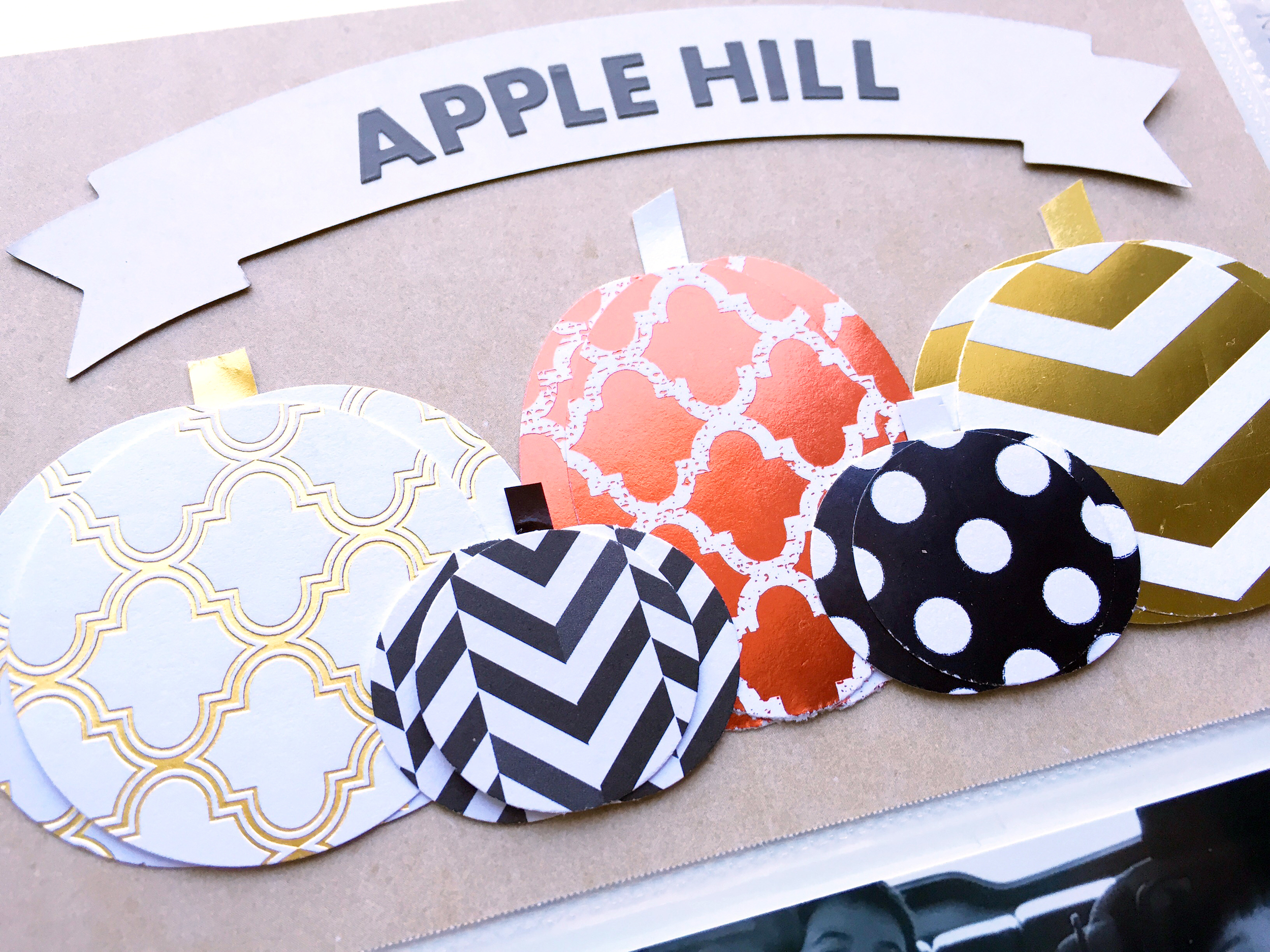 'Apple Hill' POCKET PAGES™ layout & those paper pumpkins (!!!) by Design Team member Theresa Doan | me & my BIG ideas