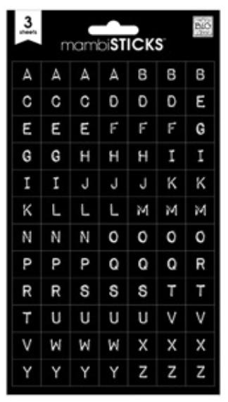 Black Typewriter Alphabet mambiSTICKS stickers | me & my BIG ideas