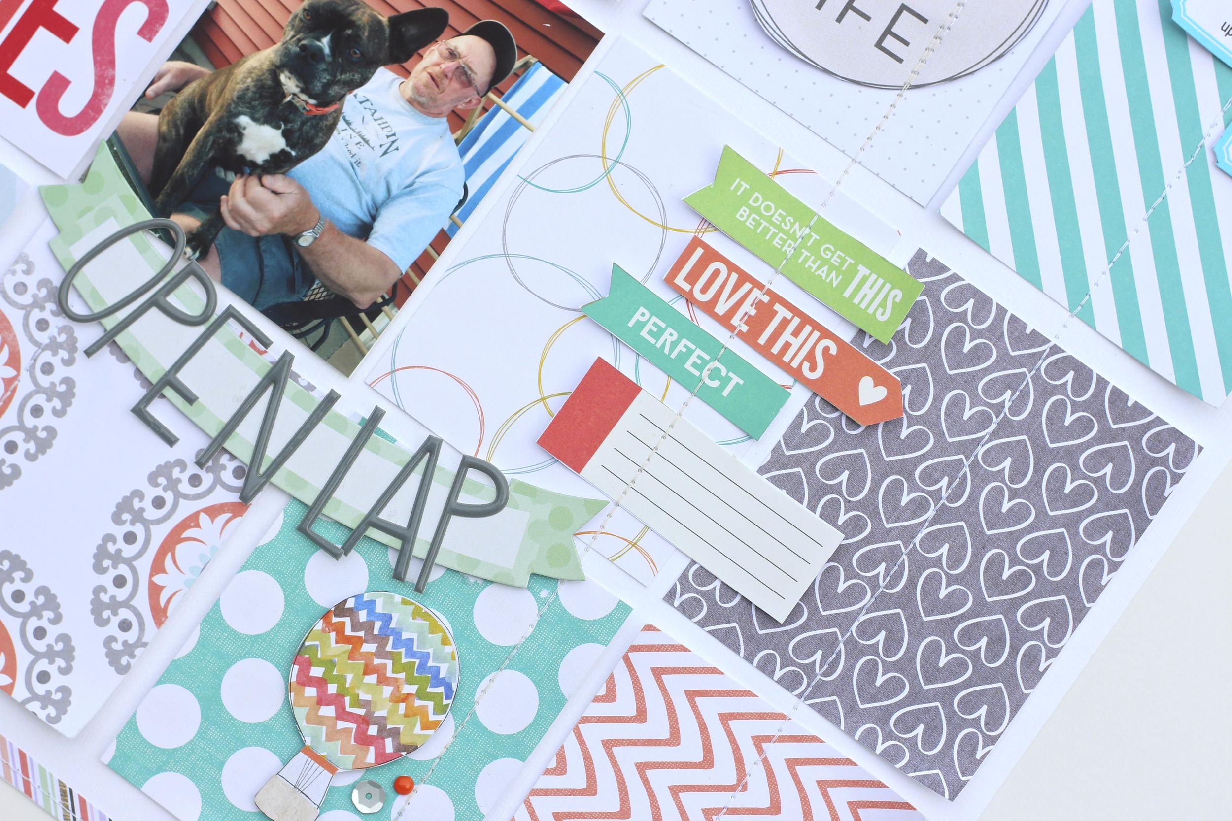 'Open Lap' scrapbook page by Design Team member Mary-Ann Maldonado | me & my BIG ideas