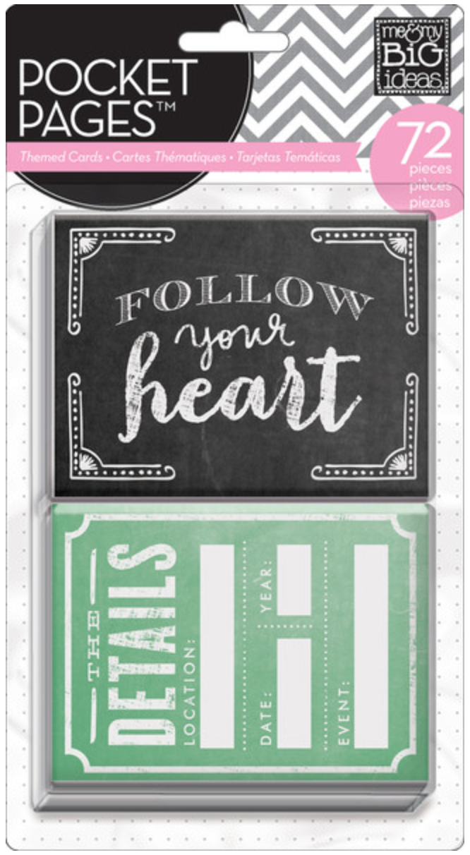 Follow Your Heart POCKET PAGES™ cards | me & my BIG ideas