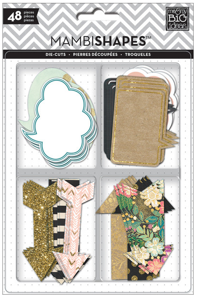 Gold Rush Arrows & Speech Bubbles mambiSHAPES die cuts | me & my BIG ideas