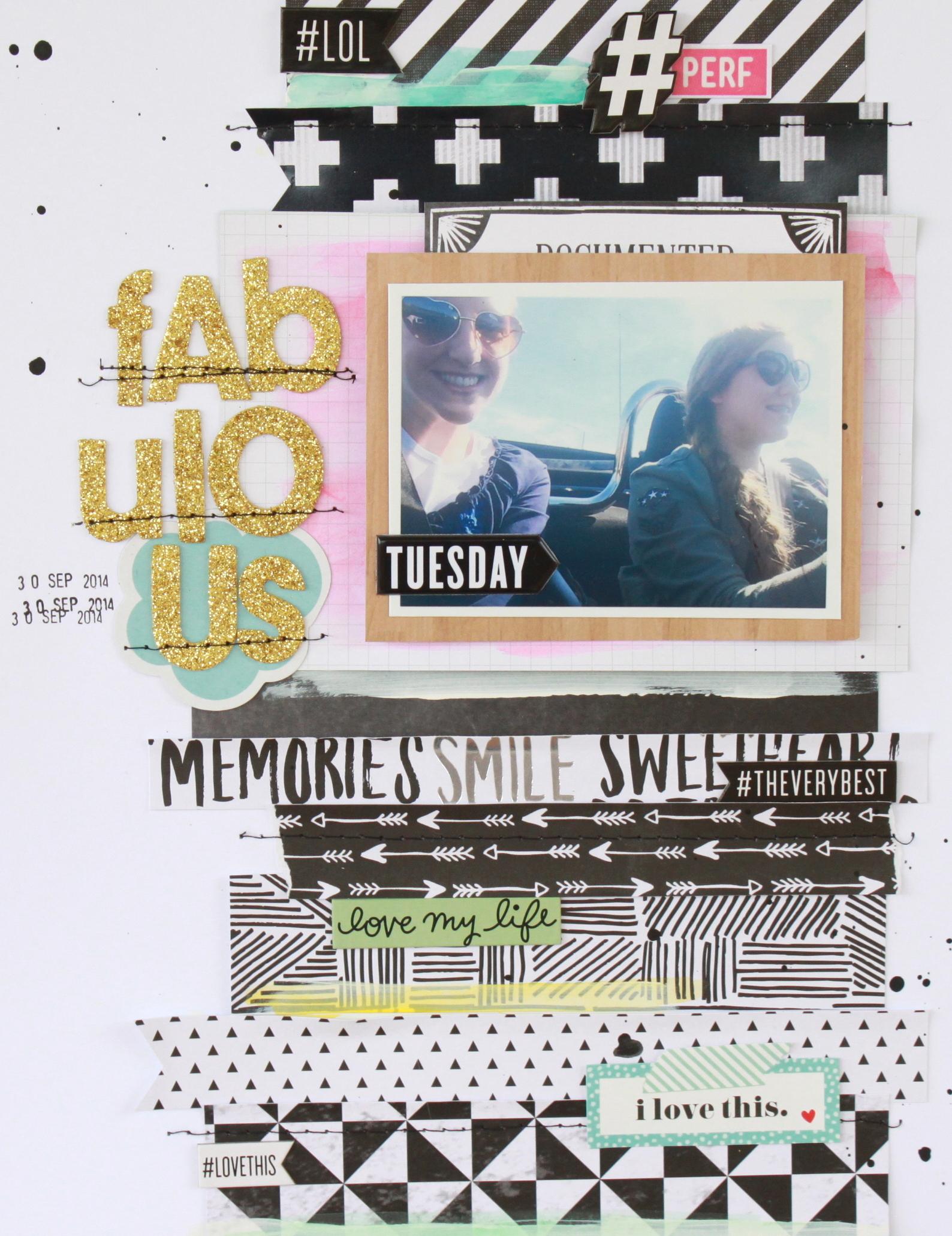 'Fabulous' scrapbook page by mambi Design Team member Heather Adams | me & my BIG ideas