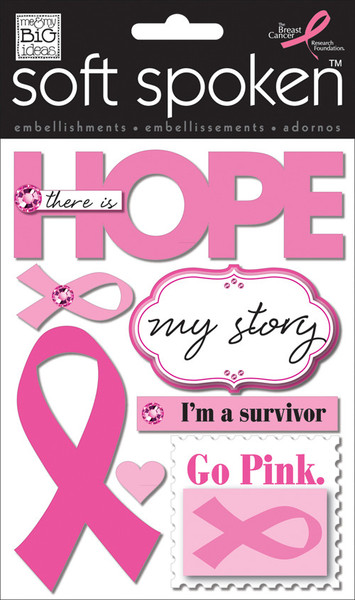 'Hope' Breast Cancer mambiSTICKS soft spoken stickers | me & my BIG ideas
