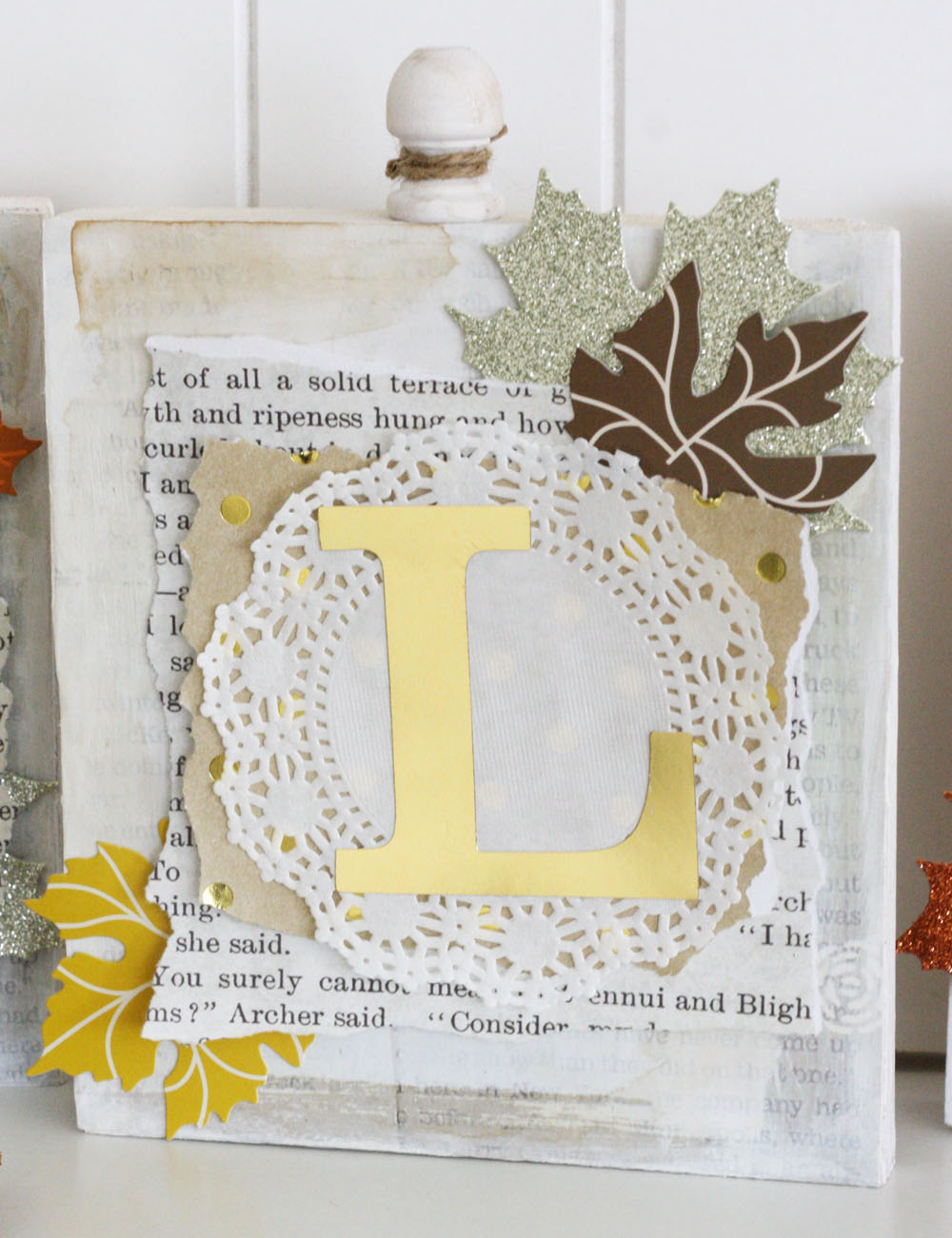Fall Wood Word Blocks by mambi Design Team member Jen Randall | my & my BIG ideas