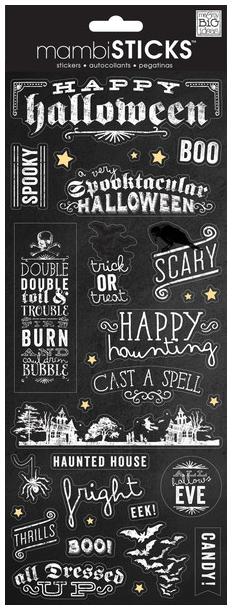 'Happy Halloween' mambiSTICKS stickers | me & my BIG ideas