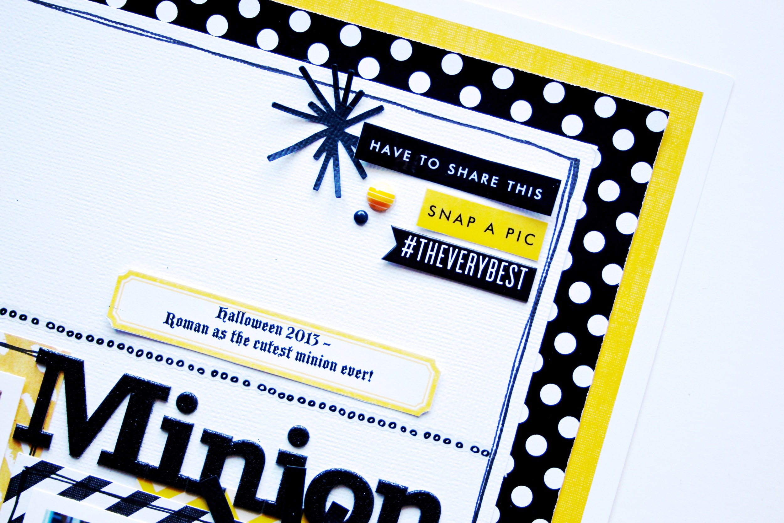 'Minion' Scrapbook Page by mambi Deisgn Team member Mary-Ann Maldonado | me & my BIG ideas