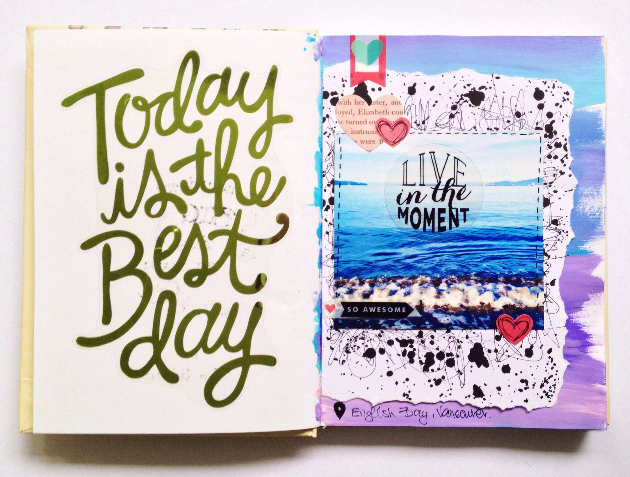 'Today is the Best Day' art journal pages by mambi Deisgn Team member Olya Schmidt | me & my BIG ideas
