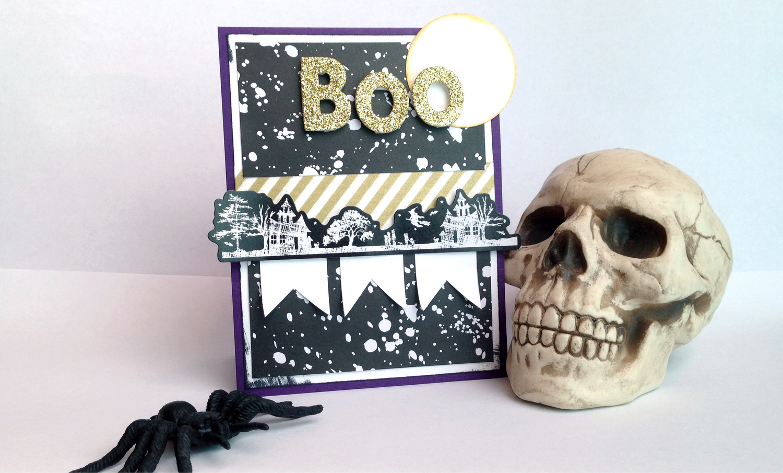 'Boo' card by mambi Design Team member Latrice Murphy | me & my BIG ideas