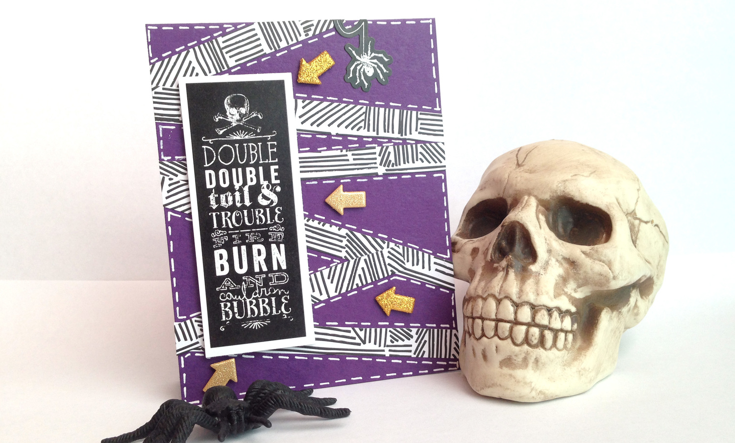'Toil & Trouble' card by mambi Design Team member Latrice Murphy | me & my BIG ideas