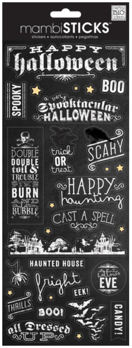 'Happy Halloween' mambiSTICKS Halloween stickers | me & my BIG ideas