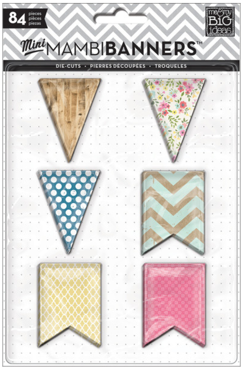 'American Sweetheart' mini mambiBANNERS die cut banner shapes | me & my BIG ideas