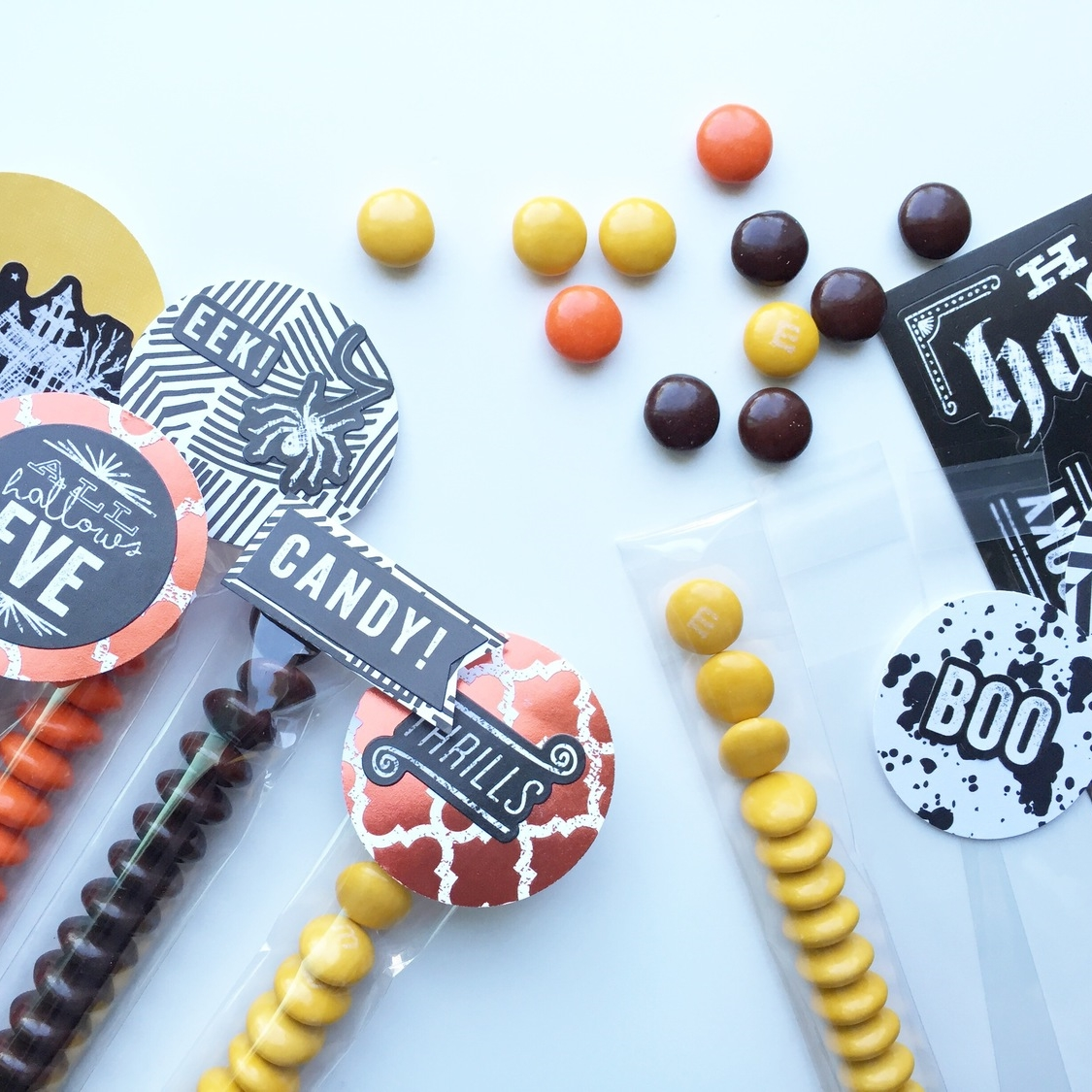 DIY Halloween candy toppers using Halloween mambiSTICKS