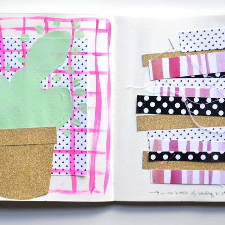 art journalling using various mambiSHEETS