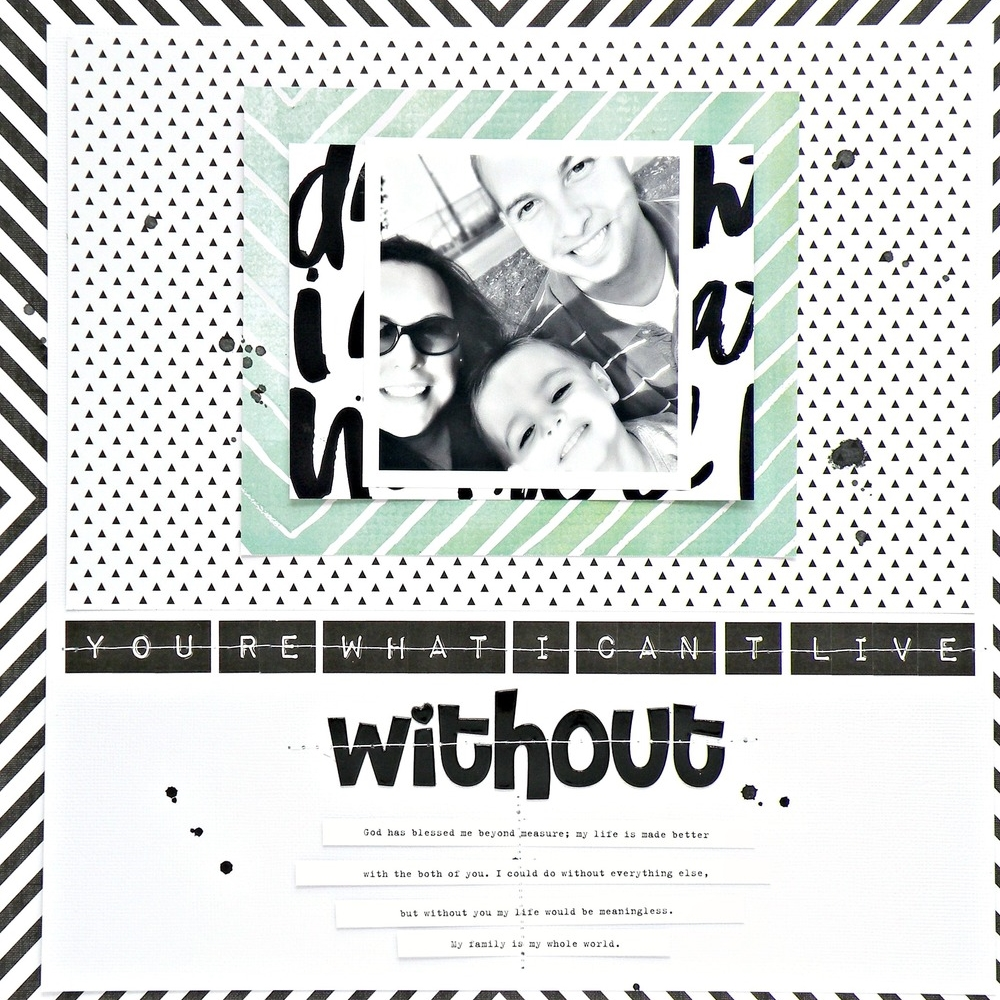 'You're What I Can't Live Without' scrapbook layout