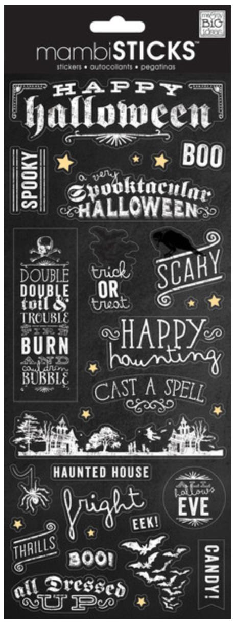 'Happy Halloween' mambiSTICKS stickers   me & my BIG ideas