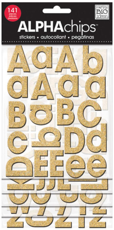 Avant Garde ALPHAchips alphabet stickers   me & my BIG ideas