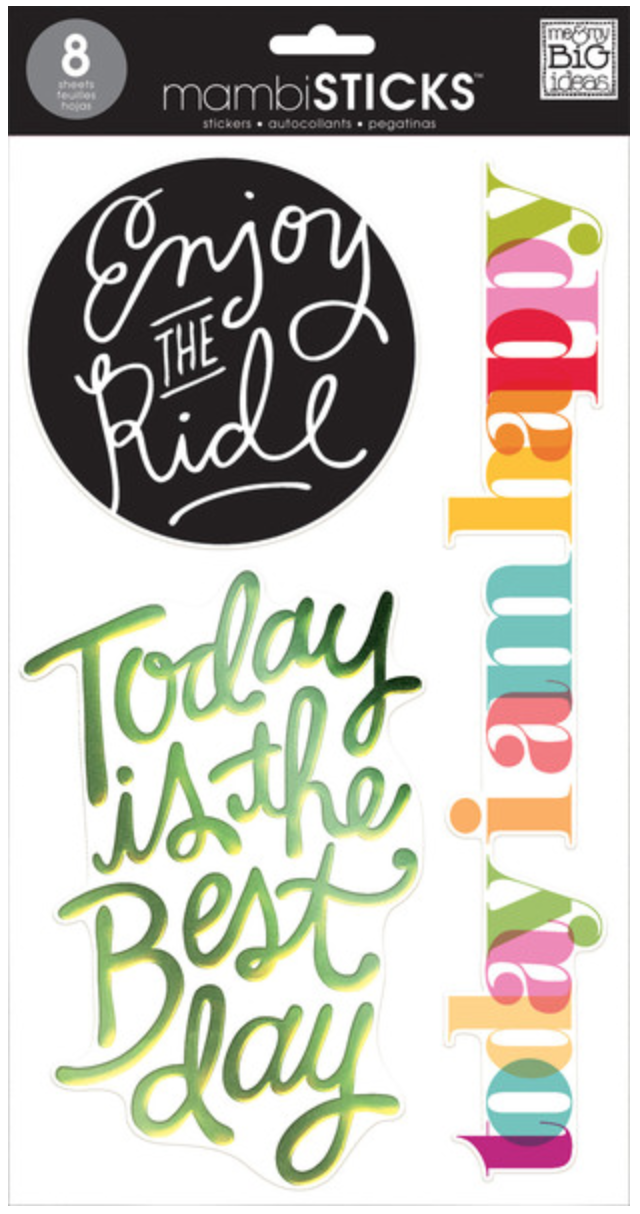 'Today' jumbo mmbiSTICKS clear stickers | me & my BIG ideas