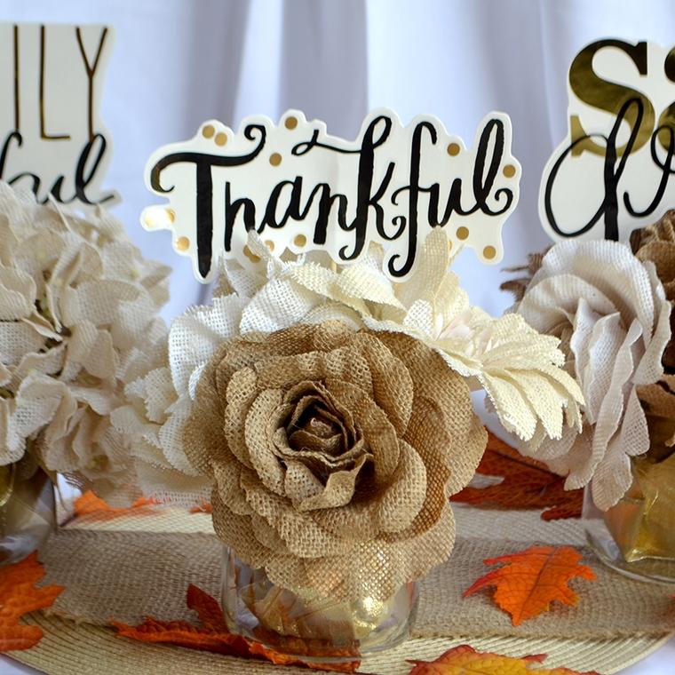 Thanksgiving Centerpieces using jumbo mambiSTICKS