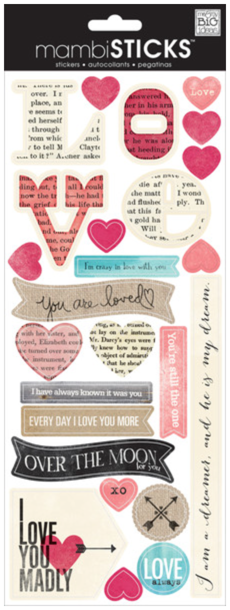 I Love You Madly mambiSTICKS stickers | me & my BIG ideas