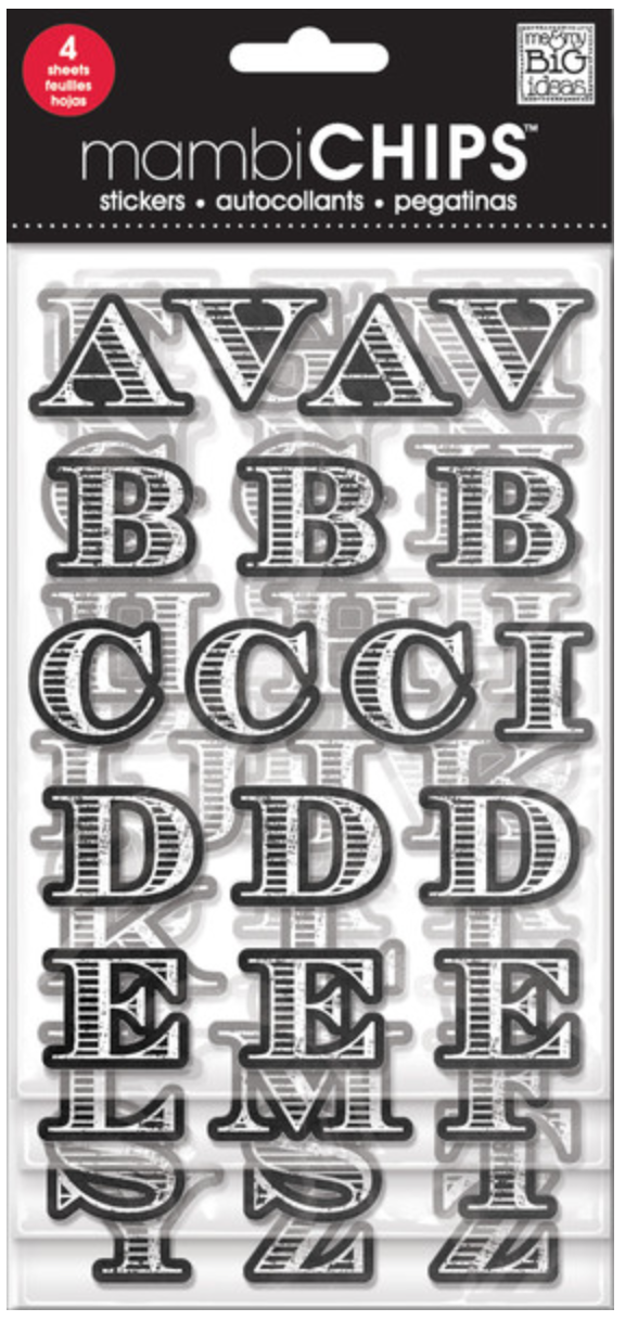 Chalkboard Alphabet - Whitecaps mambiCHIPS | m3 & my BIG ideas