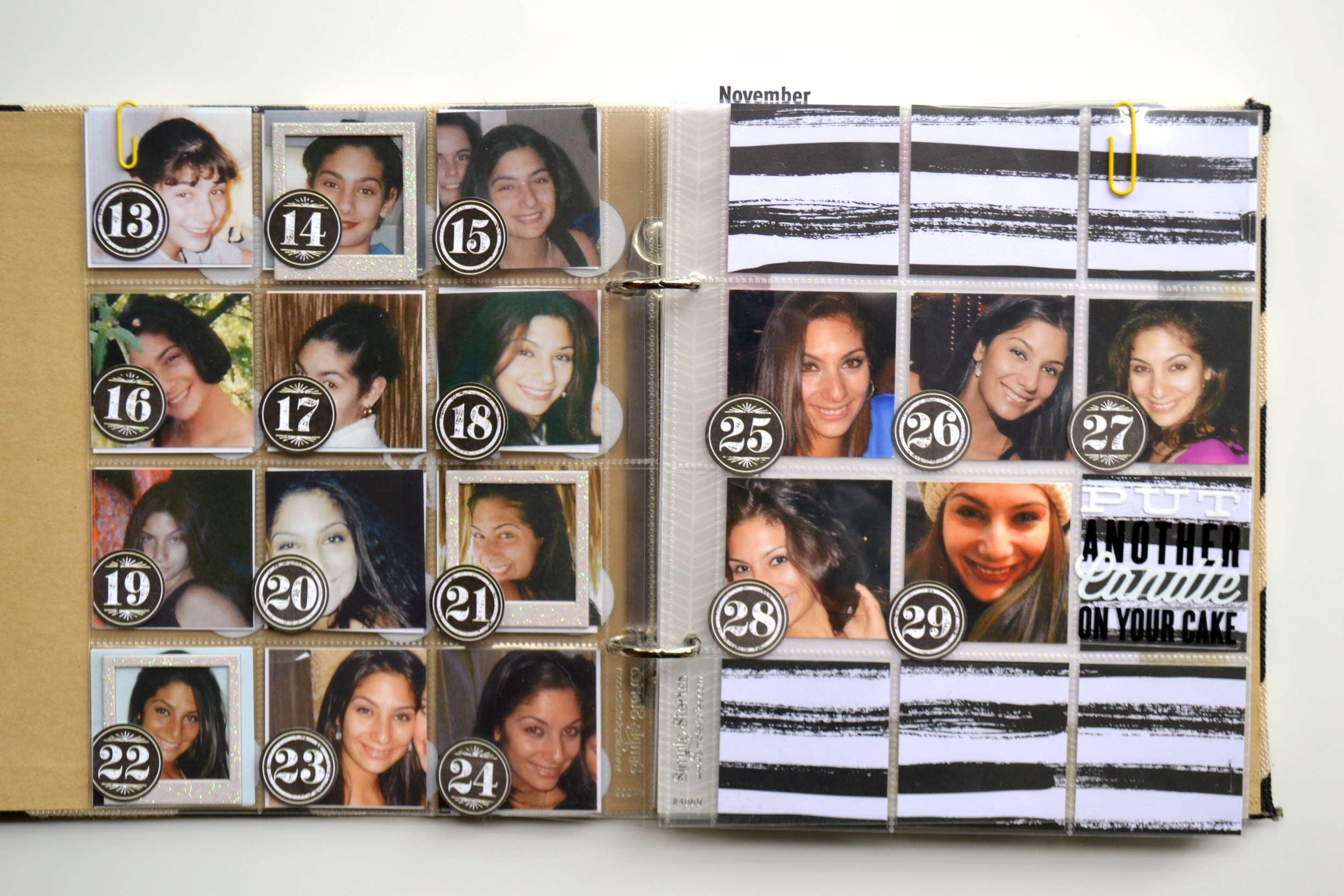 intro pages to 6 x 8 POCKET PAGES™ album: 'a journey through 30' by Amanda Rose Zampelli | me & my BIG ideas