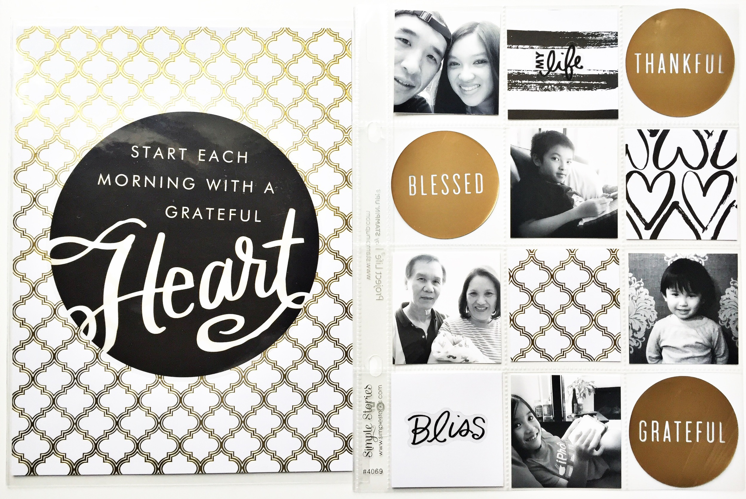 gratitude POCKET PAGES™ layout by mambi Design Team member Theresa Doan | me & my BIG ideas