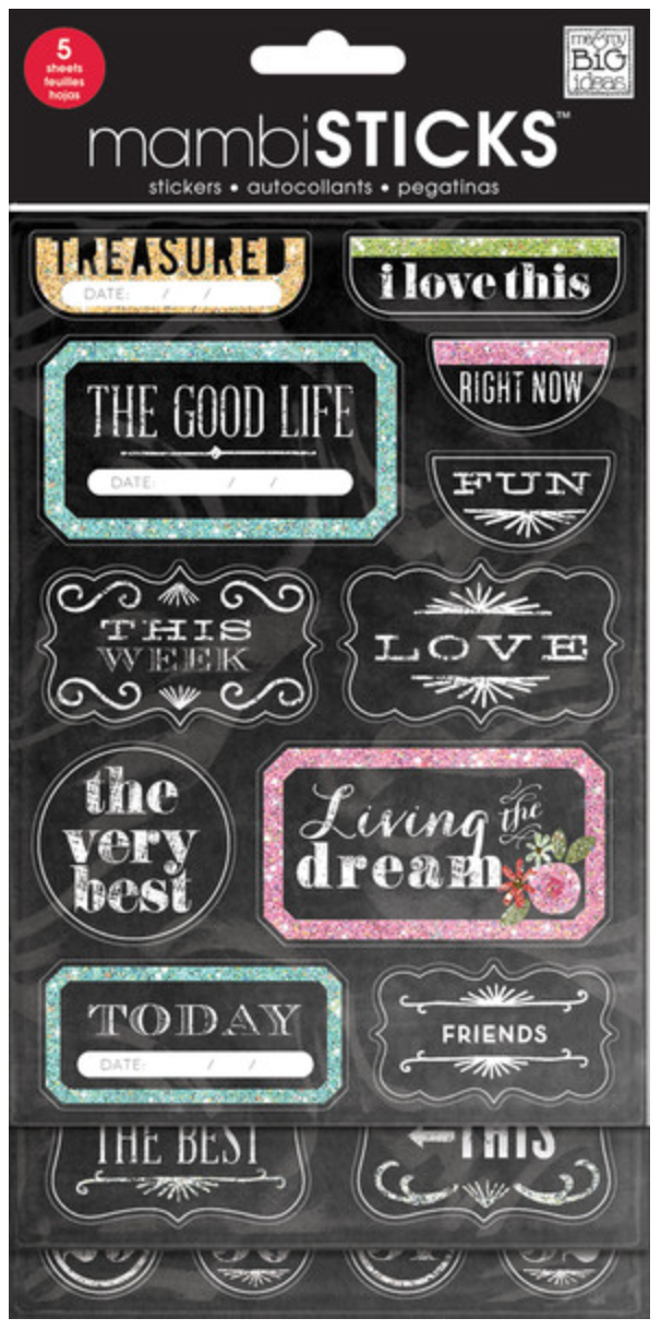 'The Good Life' mambiSTICKS chalkboard value pack | me & my BIG ideas