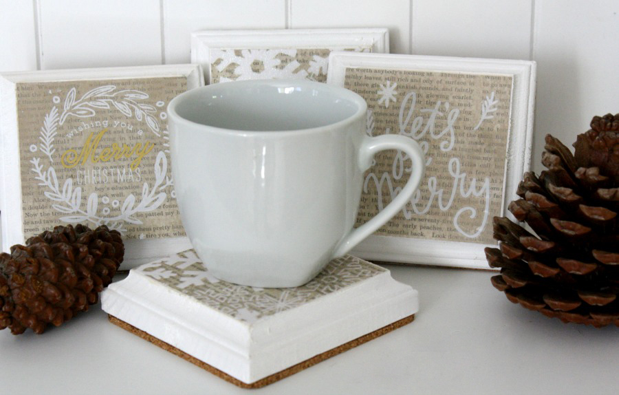 Christmas Coasters by mambi Design Team member Jen Randall | me & my BIG ideas