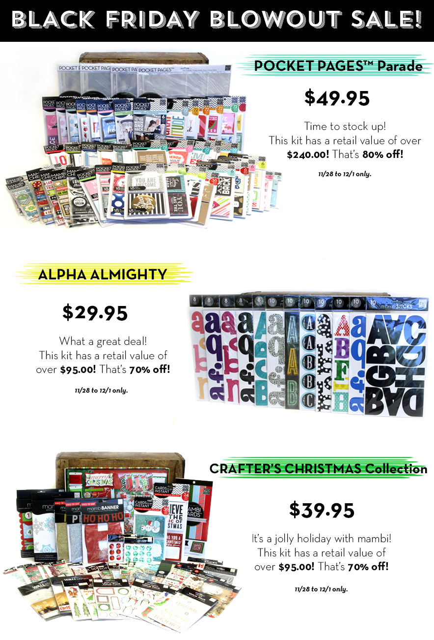 mambi Black Friday Blowout Sale 11/28 to 12/1 | me & my BIG ideas