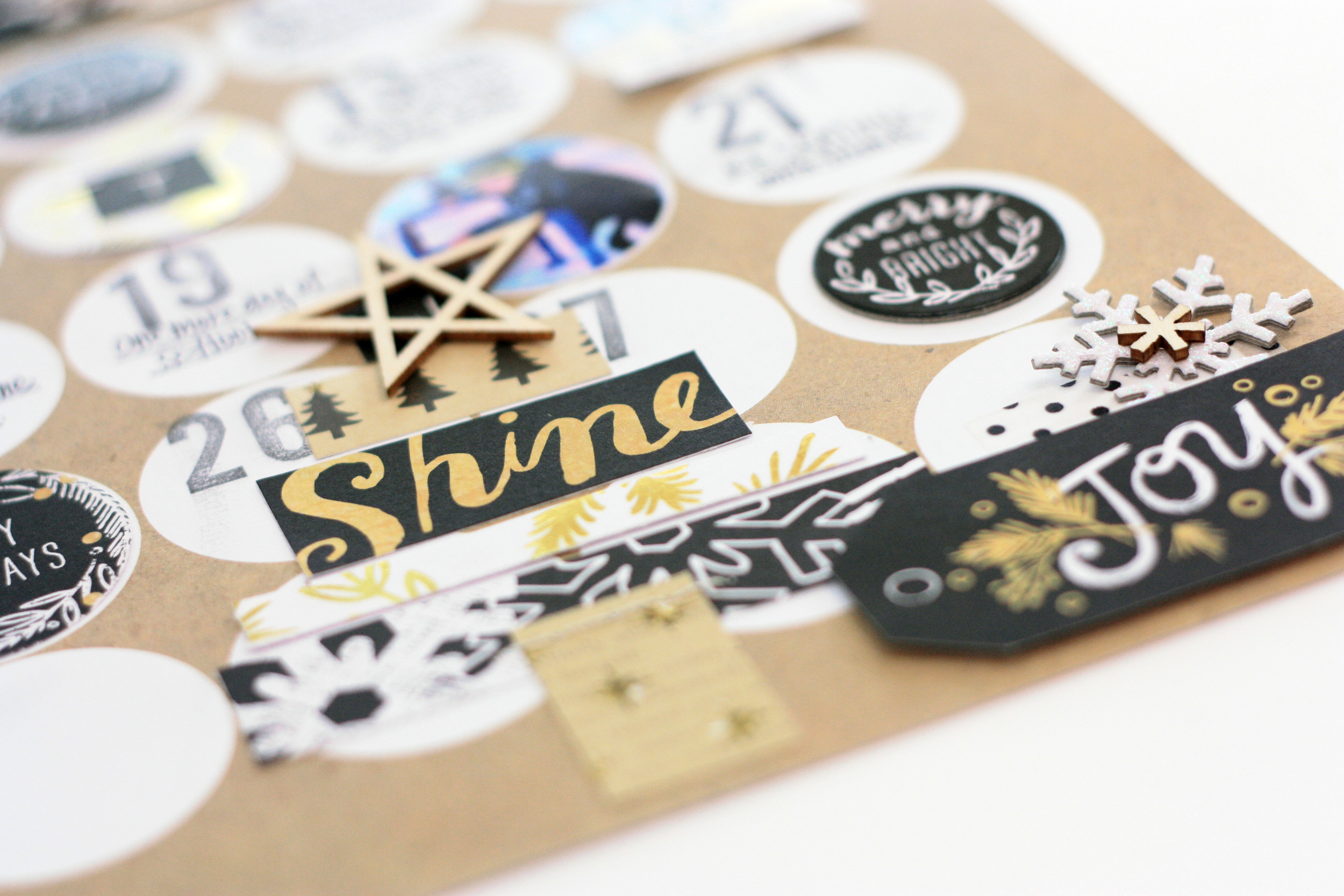 December calendar Scrapbook layout by mambi Design Team member April Orr | me & my BIG ideas