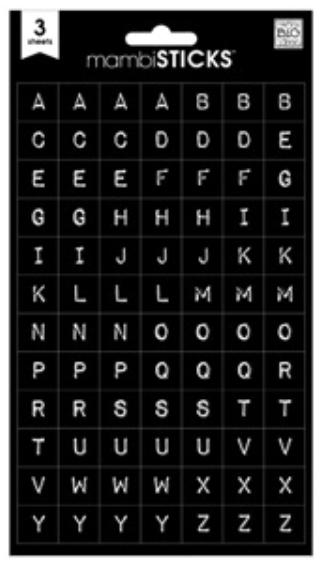 Black Typewriter mambiSTICKS alphas | me & my BIG ideas