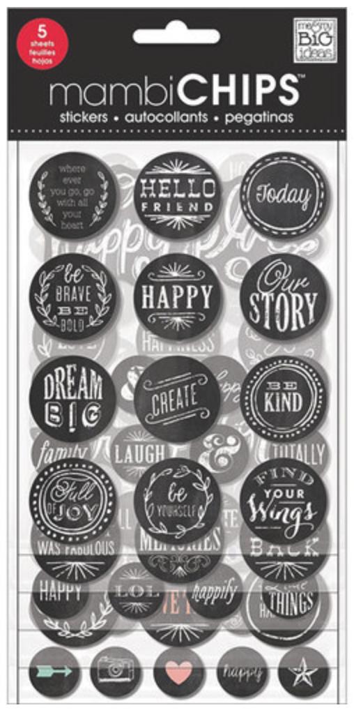 'Hello Friend' mambiCHIPS chipboard stickers | me & my BIG ideas