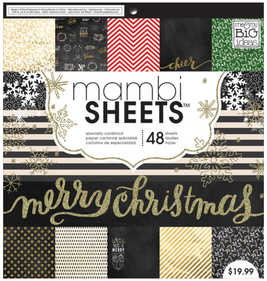 'All that Glitters' 12x12 mambiSHEETS holiday paper pad | me and my BIG ideas