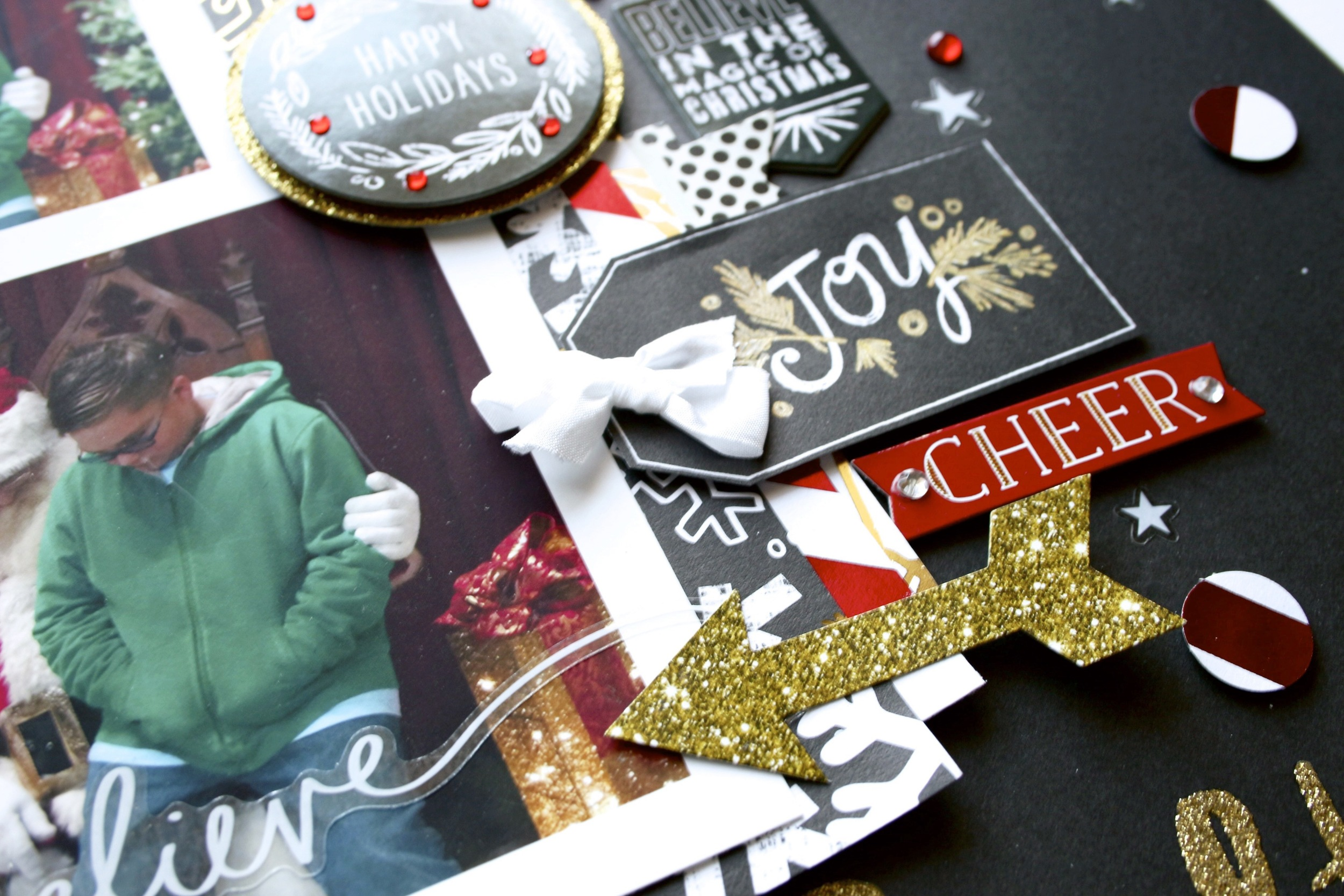 'merry christmas' holiday scrapbook layout by mambi Design Team member Mary-Ann Maldonado | me & my BIG ideas