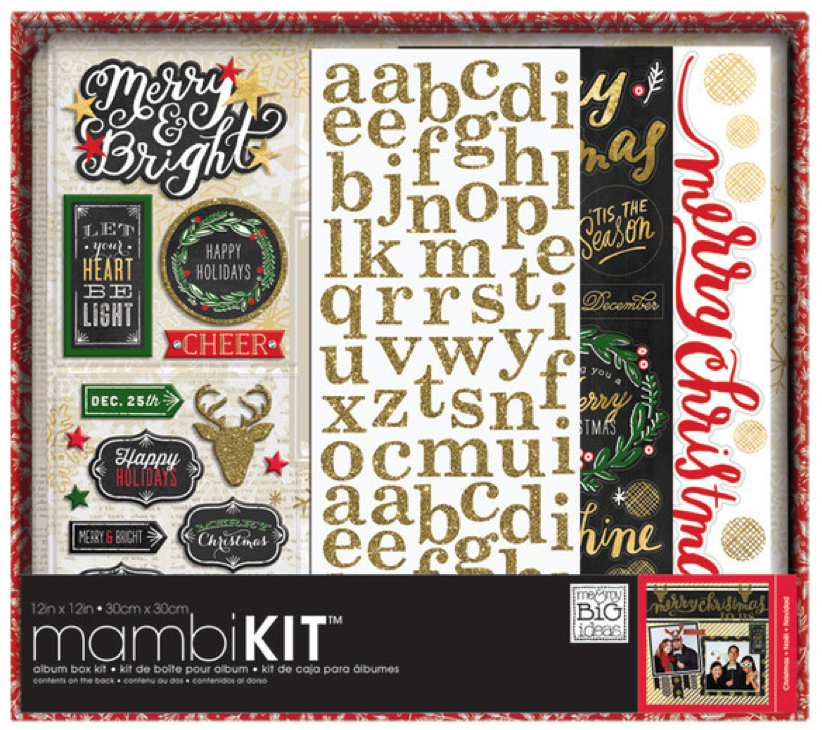 'All That Glitters' Christmas mambiKIT holiday scrapbooking kit | me & my BIG ideas