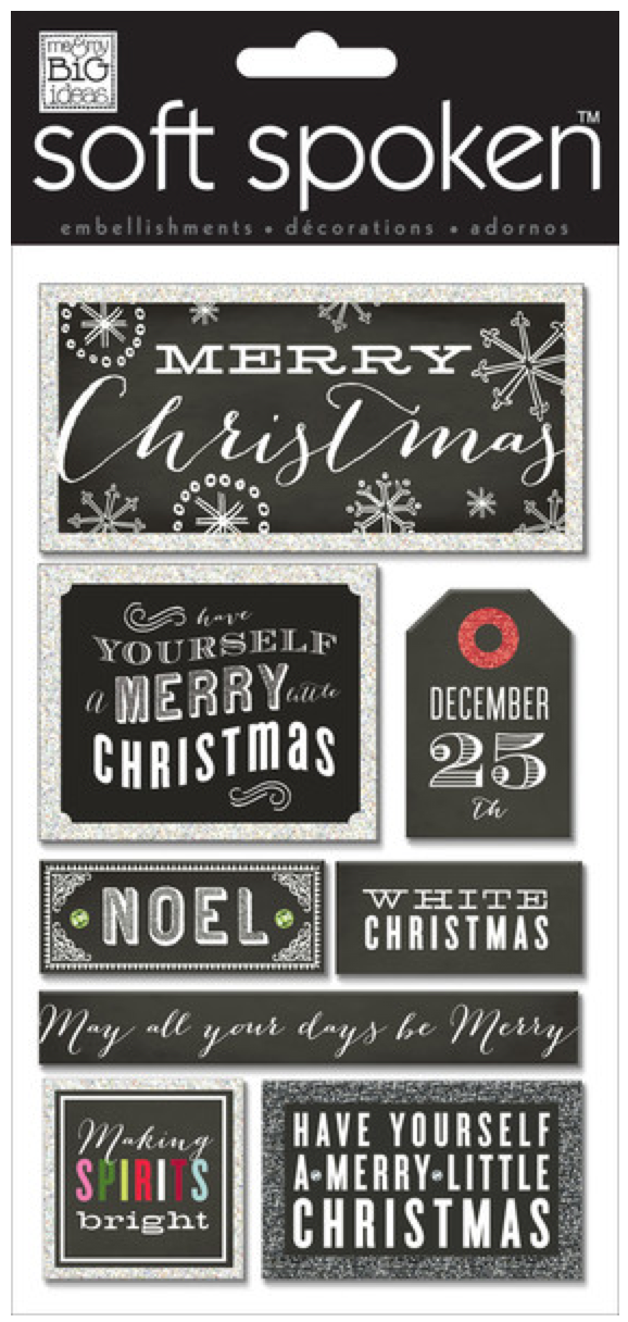 Merry Christmas SOFT SPOKEN™ holiday stickers | me & my BIG ideas