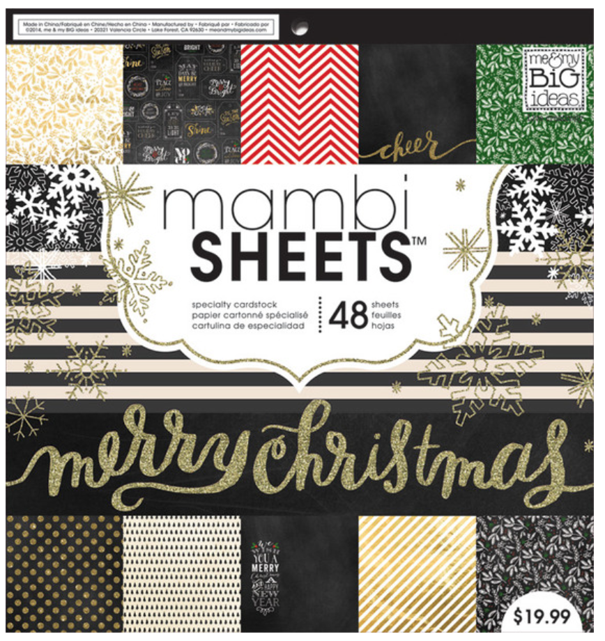 'All That Glitters' 12x12 mambiSHEETS holiday paper pad