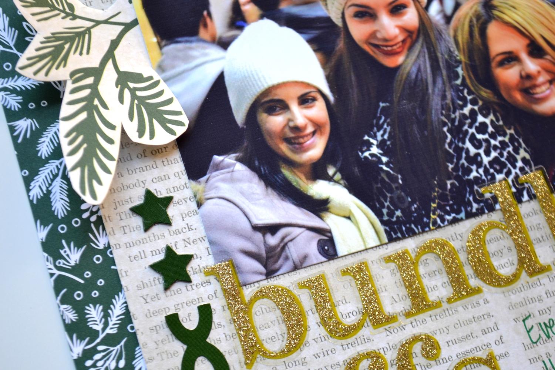 'bundled bffs' holiday scrapbook page | me & my BIG ideas