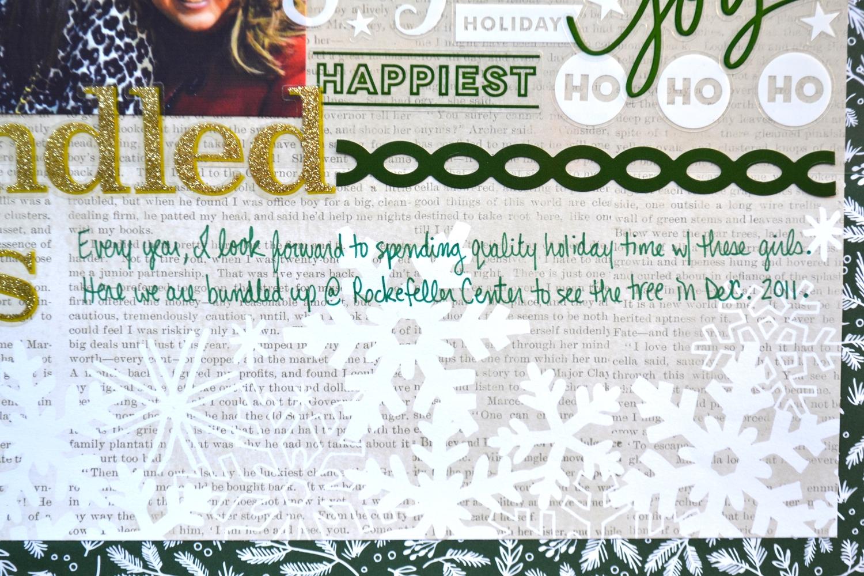 'bundled bffs' holiday scrapbook page by Amanda Zampelli | me & my BIG ideas