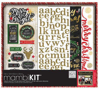 'All that Glitter Christmas' 12x12 mambiKIT holiday scrapbook kit | me & my BIG ideas