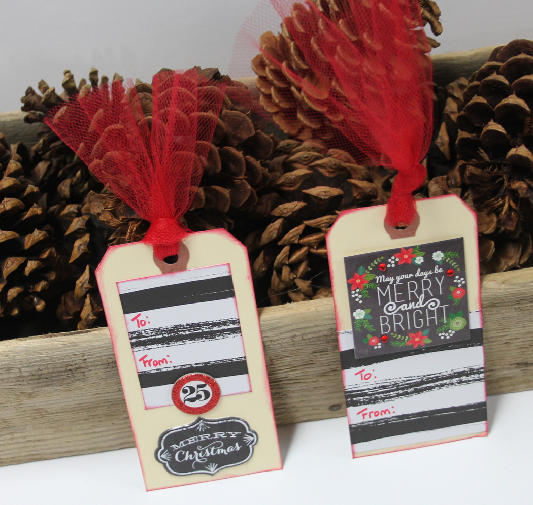 DIY Holiday Gift Tags by mambi Design Team member Candi Billman | me & my BIG ideas