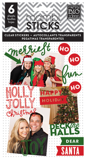 'Holly Jolly' red & green mambiSTICKS Christmas clear sticker pad | me & my BIG ideas